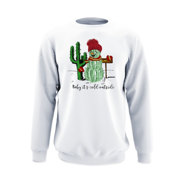 Baby's It's Cold Outside - Crew Sweatshirt Large Print Area