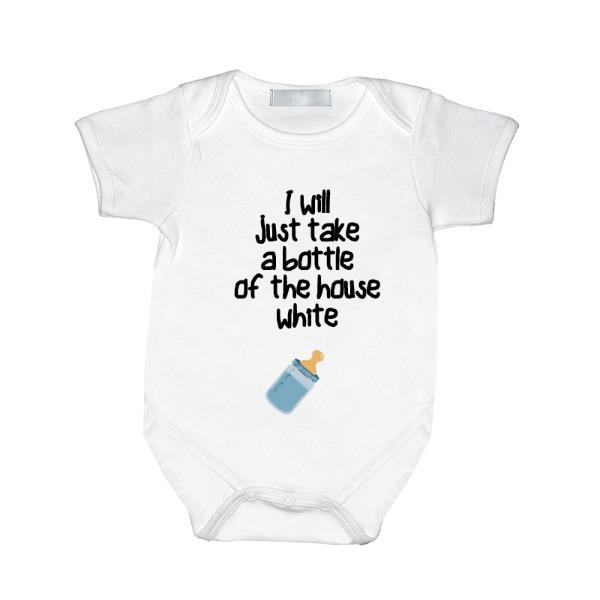 House white Blue - house white Boy - Baby One Piece