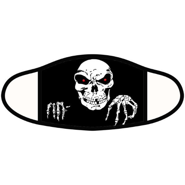 skeleton comin at you - Face Mask- Large