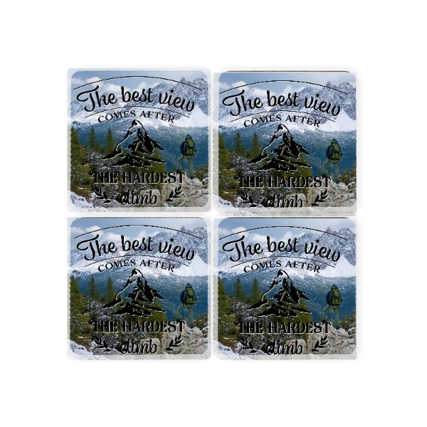 The Best View Coasters - Square Coaster Set