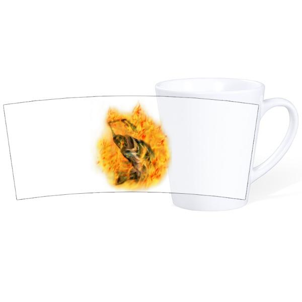 Bass on Fire-Mug Ceramic Latte White 12oz