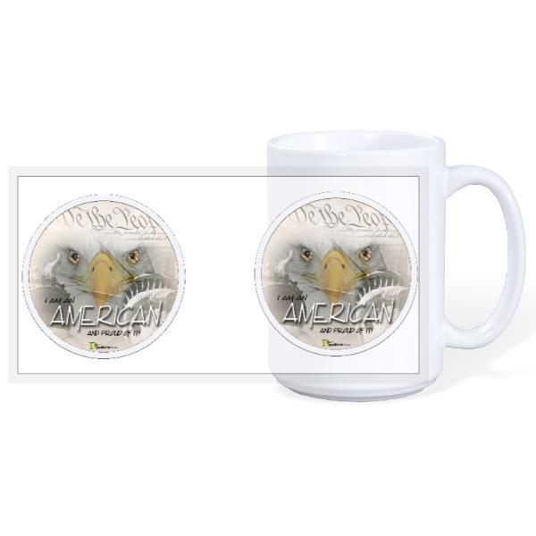 I Am An AMERICAN & PROUD of it! - 15oz Ceramic Mug