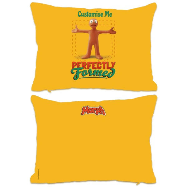 Aardman Morph 'Perfectly Formed' Extra Large Fiber Cushion