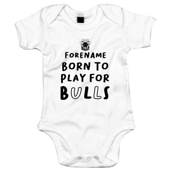 Bradford Bulls Born to Play Baby Bodysuit