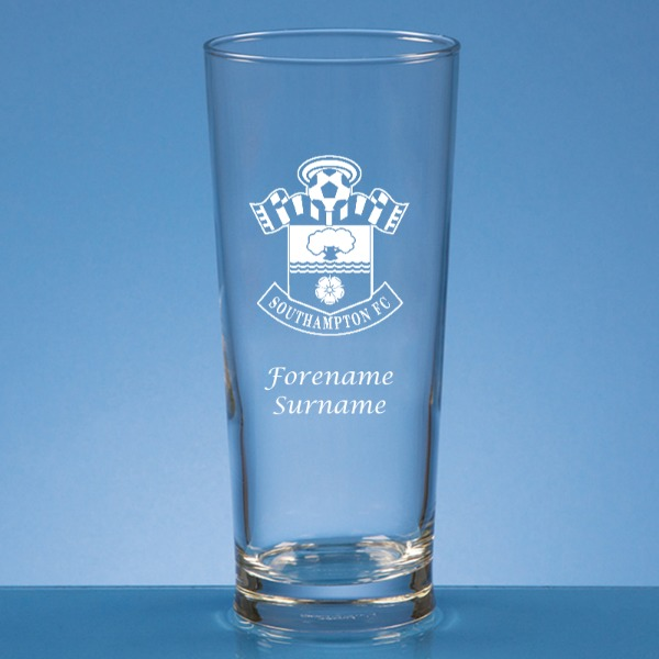 Southampton FC Crest Straight Sided Beer Glass