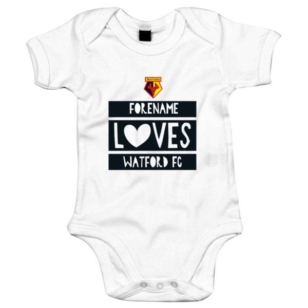 Watford FC Loves Baby Bodysuit