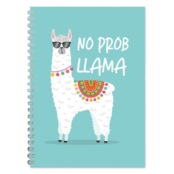 No Prob Llama A5 Lined Notepad