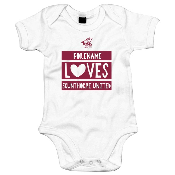 Scunthorpe United FC Loves Baby Bodysuit