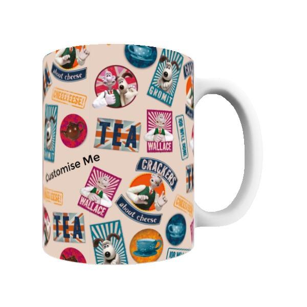 Aardman Wallace And Gromit Print Mug