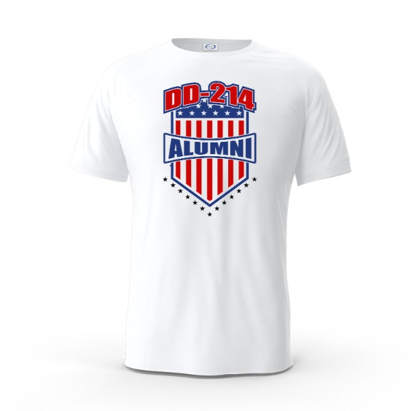 DD-214 Alumni Red White and Blue - Mens Solar Short Sleeve