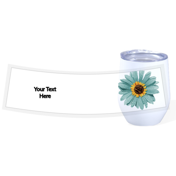 Blue Daisy - Travel Wine Cup Stainless Steel White 12oz