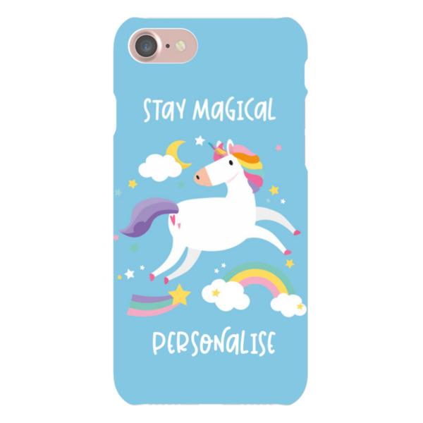 Personalised Unicorn iPhone 7 Hard Back Phone Case