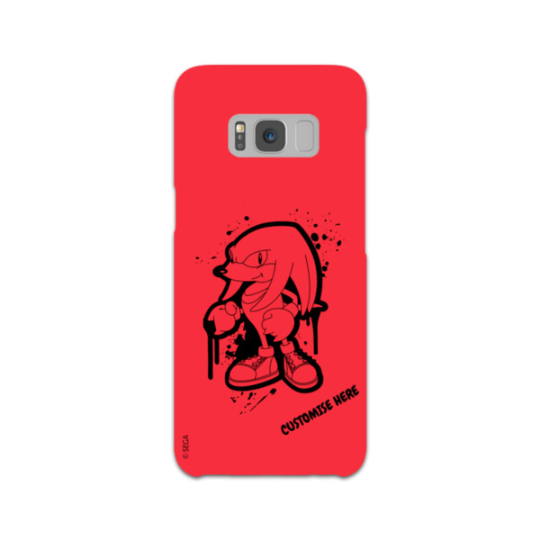 Samsung Galaxy S8 Phone Case - Knuckles Graffiti - Classic Sonic