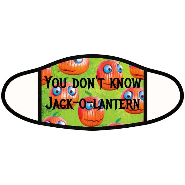 you dont know jack-o-lantern - Face Mask- Large
