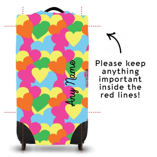 Multicoloured Hearts - Caseskin - L