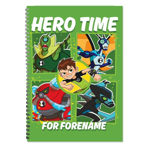 Disney Ben 10 Hero Time A4 Lined Notepad