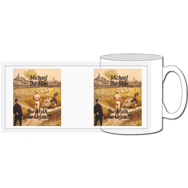 Baseball Personalised Mug - 10oz Ceramic Mug