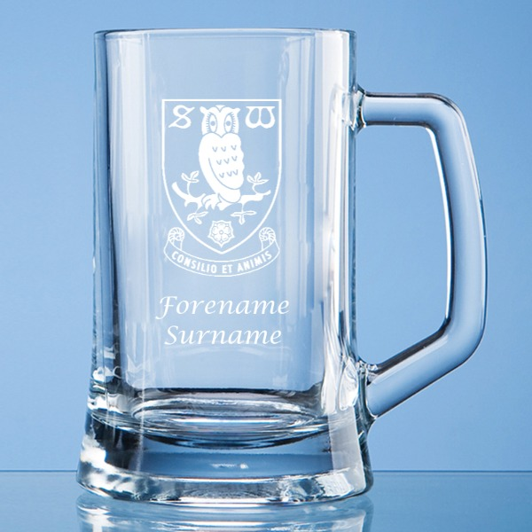 Sheffield Wednesday FC Crest Small Plain Straight Sided Tankard