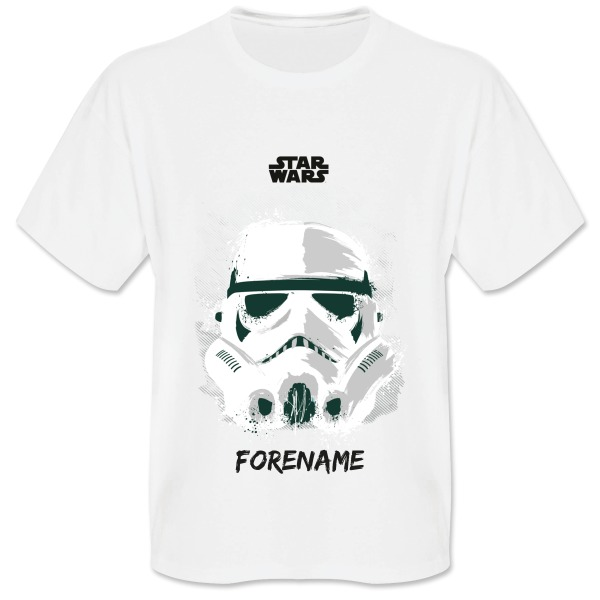 Star Wars Storm Trooper Paint  Mens T-Shirt