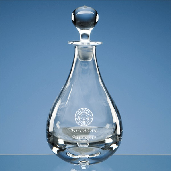 Leicester City FC Personalised Crest Wine Decanter