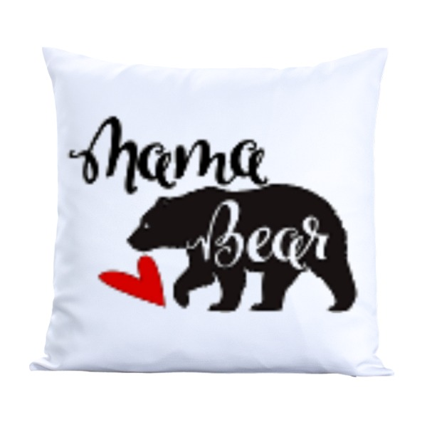 Mama Bear-Pillow Cover Polyester Canvas Square 40cm