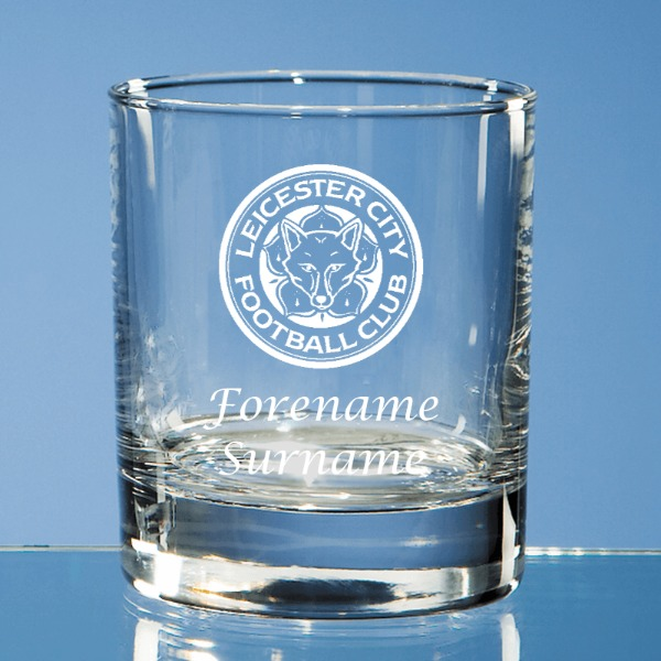 Leicester City FC Crest Old Fashioned Whisky Tumbler