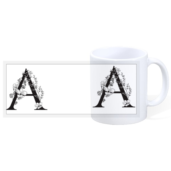 Muhg - Letter A - 11oz Ceramic Mug