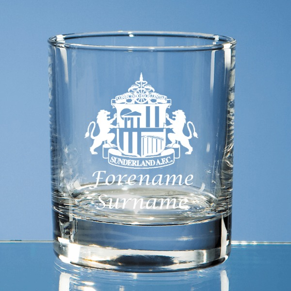 Sunderland AFC Crest Bar Line Old Fashioned Whisky Tumbler