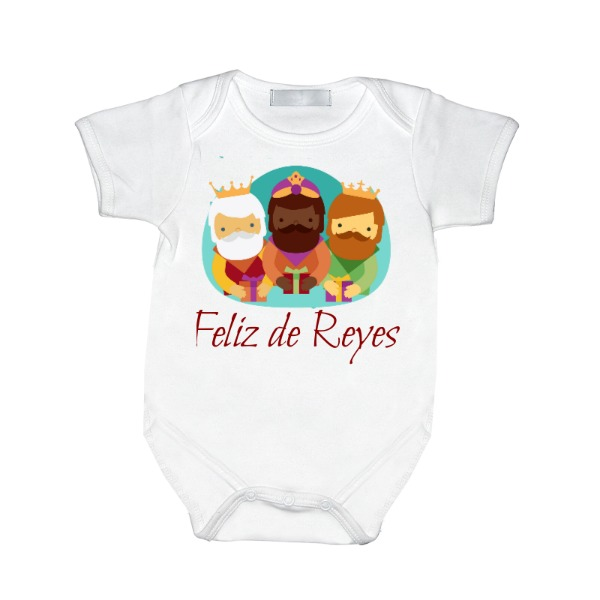 feliz de reyes bodies para bebés - Baby One Piece