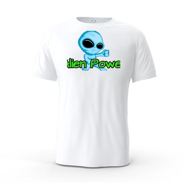 Alien Power - Mens Solar Short Sleeve Small Print Area
