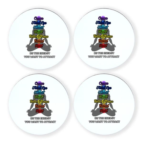 chakra reiki energy - Round Coaster Set