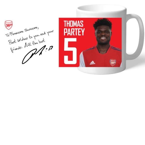 Arsenal FC Partey Autograph Mug