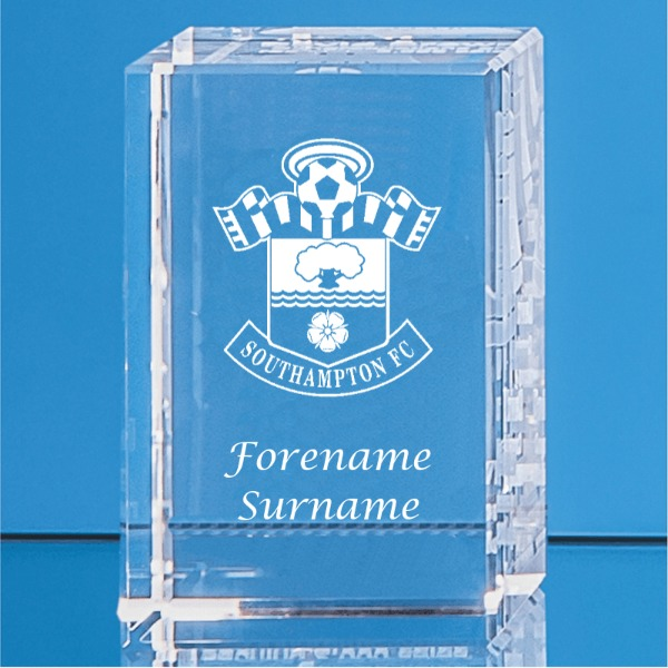 Southampton FC Personalised Crystal Rectangle
