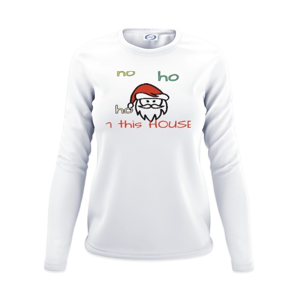 Christmas Shirt - Ladies Solar Long Sleeve Small Print Area