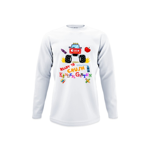 Ready to Crush Kindergarten - Youth Solar Long Sleeve