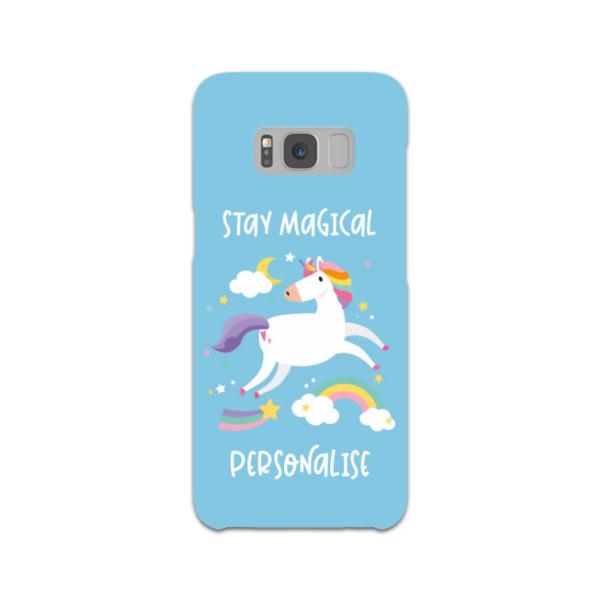 Personalised Unicorn Samsung Galaxy S8 Hard Back Phone Case