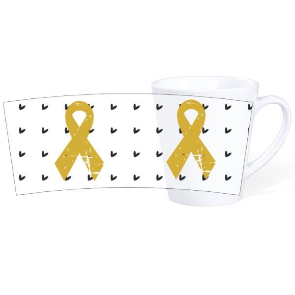 Ribbons with heart background - Mug Ceramic Latte White 12oz