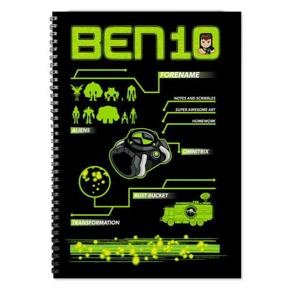 Disney Ben 10 Omnitrix A4 Lined Notepad