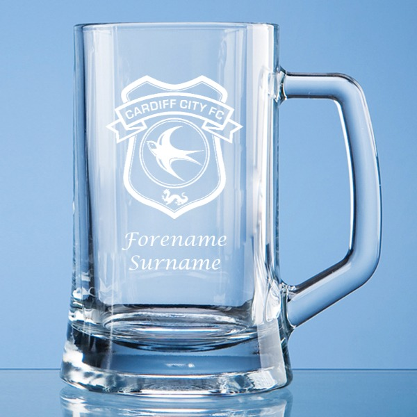 Cardiff City FC Crest Small Plain Straight Sided Tankard