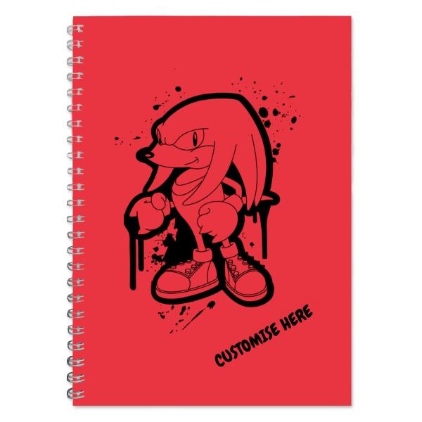 A5 Notebook - Graffiti Knuckles - Classic Sonic