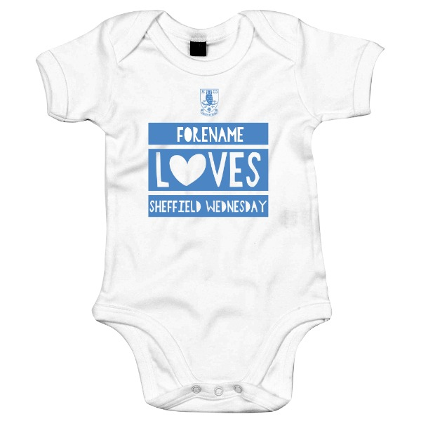 Sheffield Wednesday FC Loves Baby Bodysuit