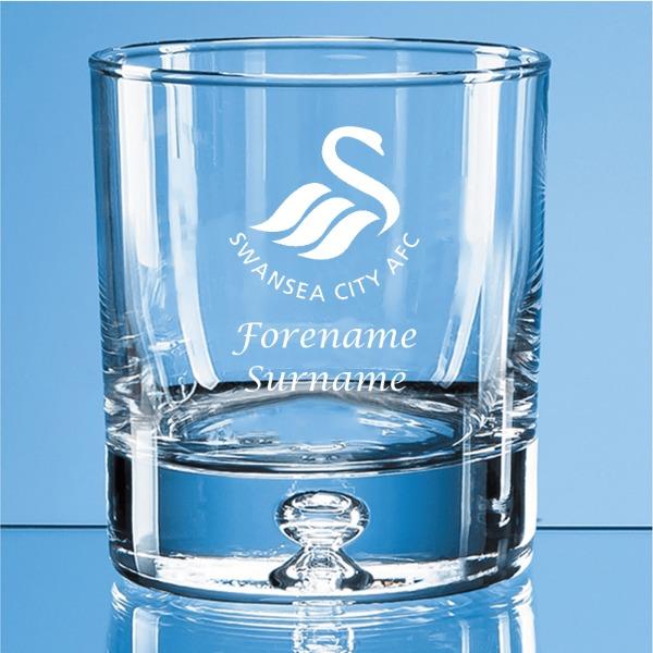 Swansea City AFC Crest Bubble Base Whisky Tumbler
