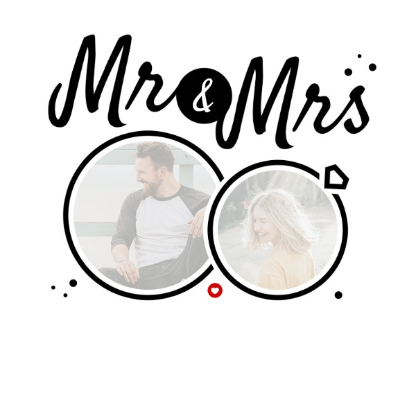 Photo Upload Cushion - Mr and Mrs
