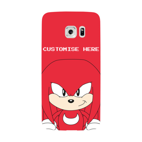 Samsung Galaxy S7 EDGE Phone Case - Knuckles Face - Classic Sonic
