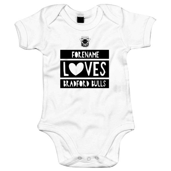 Bradford Bulls Loves Baby Bodysuit