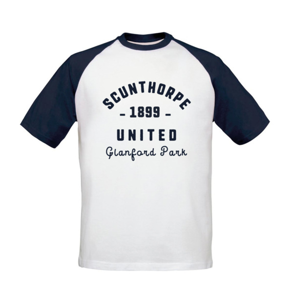 Scunthorpe United FC Stadium Vintage Baseball T-Shirt