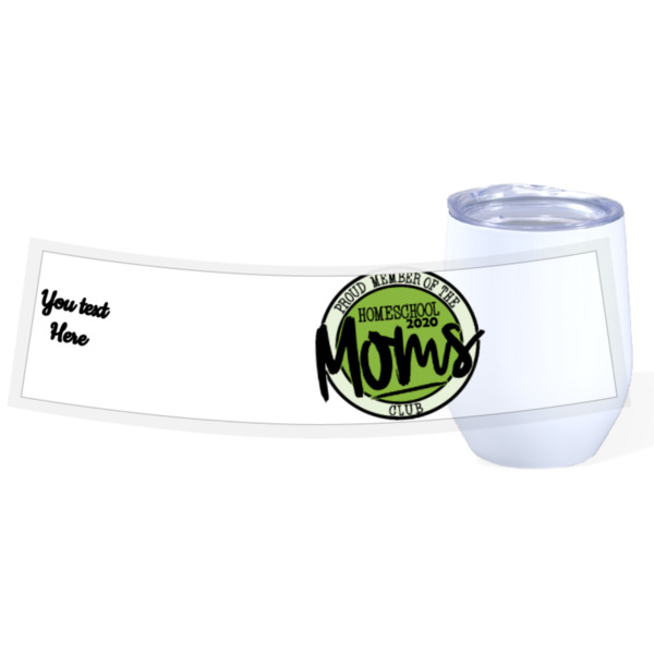 Green Mom Homeschool - Travel Wine Cup Stainless Steel White 12oz