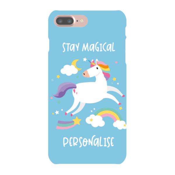 Personalised Unicorn iPhone 8 Hard Back Phone Case