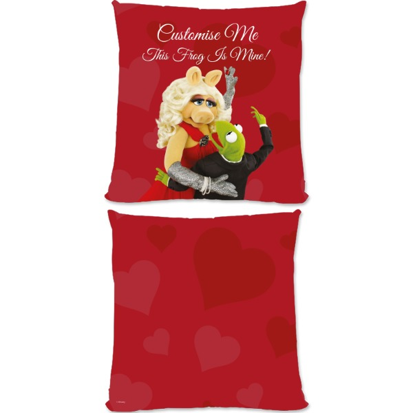 Disney The Muppets Kermit And Miss Piggy This Frog Is Mine Small Fiber Cushion
