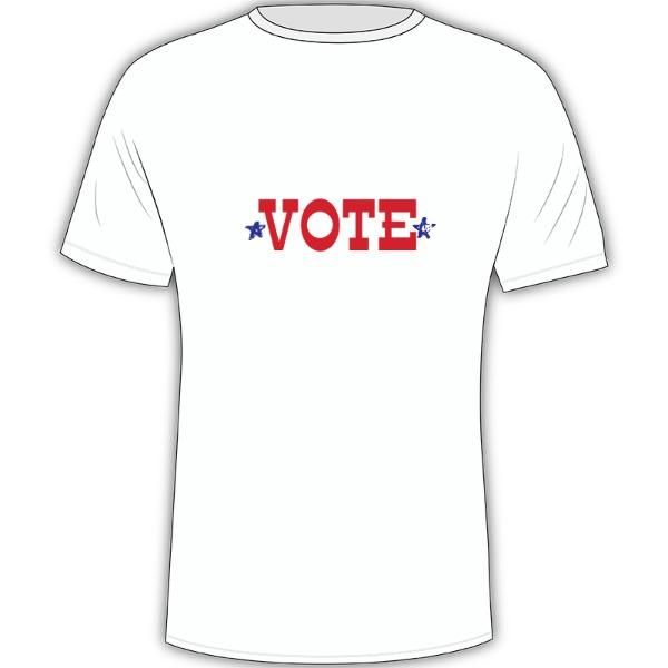 Vote - Vote - Mens Solar Short Sleeve Large Print Area